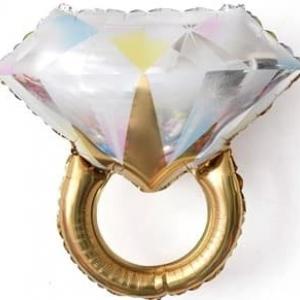 """Шар фольгированный """"Кольцо с бриллиантом"""""""