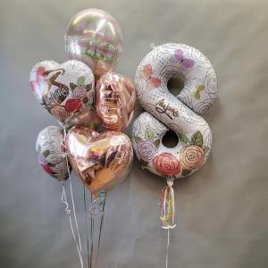Оформление шарами 8 марта № 47