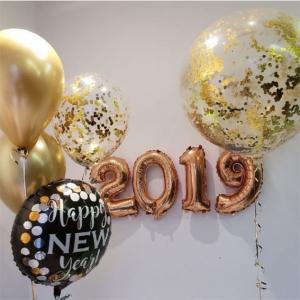 """Композиция из шаров """"Новый год №12"""""""