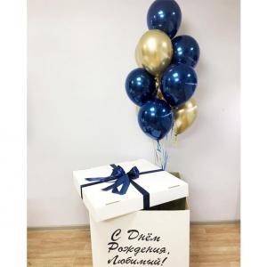 Коробка-сюрприз с шарами №12