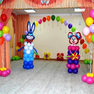 Оформление шарами выпускного в детском саду № 08