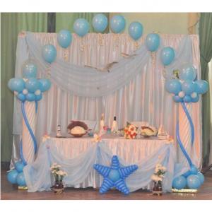 Оформление шарами свадьбы № 20