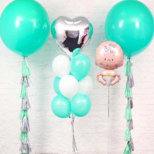 Оформление шарами выписки № 83