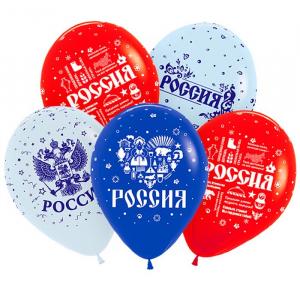 """Гелиевый шар """"Россия"""""""