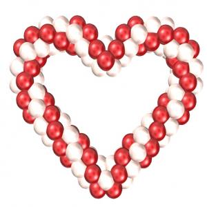 """Фигура из шаров """"Бескаркасное сердце"""""""