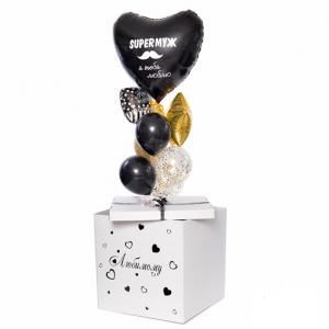 Коробка-сюрприз с шарами №38