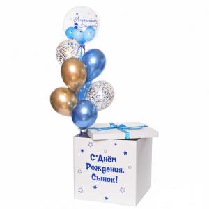 Коробка-сюрприз с шарами №35