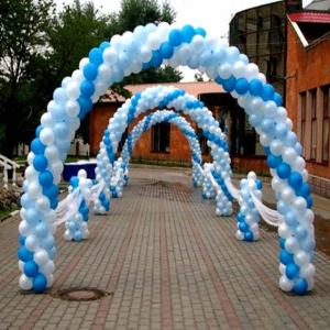 Оформление шарами свадьбы № 16