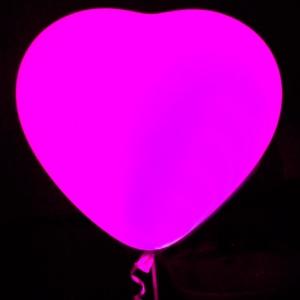 Светящийся шар сердце большое (гелий)