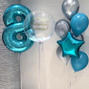 """Композиция из шаров № 451 """"День рождения"""""""