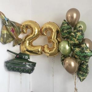 Оформление шарами праздника № 12 «23 февраля»