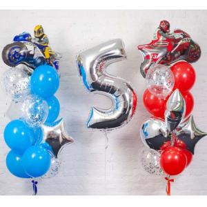 """Композиция из шаров № 351 """"День рождения"""""""