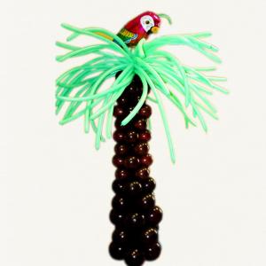 """Фигура из шаров """"Пальма с попугаем"""""""