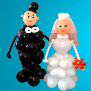 """Фигура из шаров""""Жених и невеста"""""""