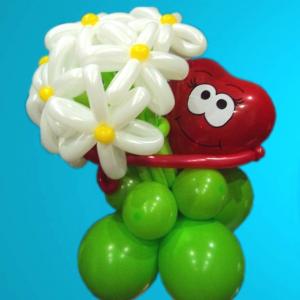 """Цветы из шаров № 41 """"Сердечко"""""""