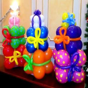 """Фигура из шаров """"Подарок  """""""