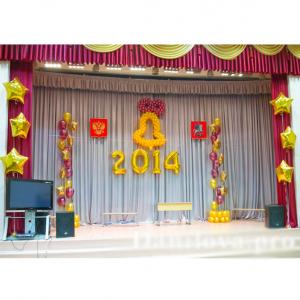 Оформление шарами выпускного в школе № 07