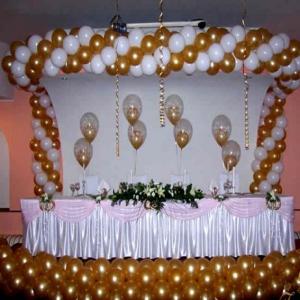 Оформление шарами свадьбы № 17