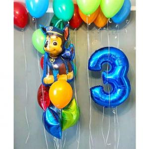 """Композиция из шаров № 554 """"День рождения"""""""