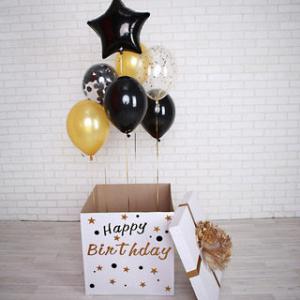Коробка-сюрприз с шарами № 2