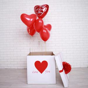 Коробка-сюрприз  с шарами № 1