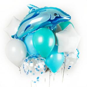 """Фонтан из шаров № 20 """"Дельфин"""""""