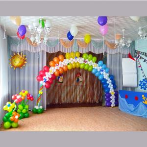Оформление шарами выпускного в детском саду № 31