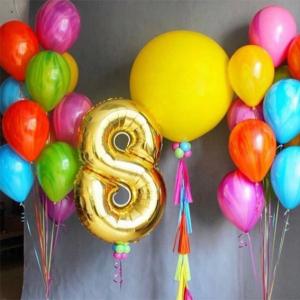 """Композиция из шаров № 587 """"День рождения"""""""