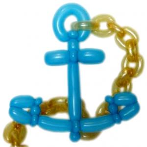 """Фигура из шаров """"Морской якорь"""""""