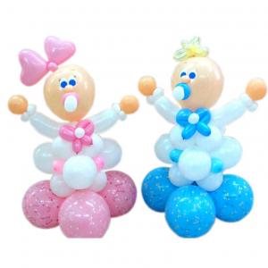 """Фигура из шаров """"Малыш и малышка"""""""