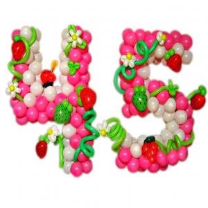 """Фигура из шаров """"Цифра с ягодкой"""""""