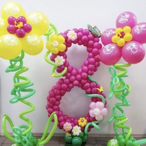 Оформление шарами 8 марта № 49