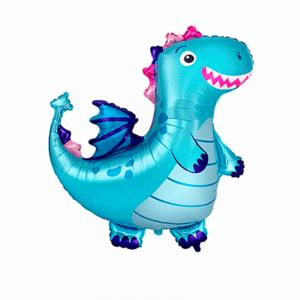 """Шар фольгированный """"Динозаврик (голубой)"""""""