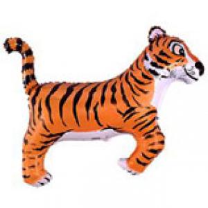 """Шар фольгированный """"Тигр чёрный"""""""