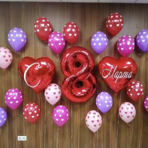 Оформление шарами 8 марта № 46