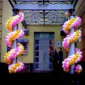 Оформление шарами фасада здания № 2