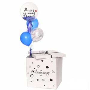Коробка-сюрприз с шарами №39