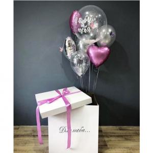 Коробка-сюрприз с шарами №25