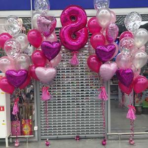 Оформление шарами 8 марта № 28