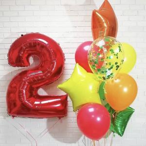 Композиция из шаров № 199 «День рождения»