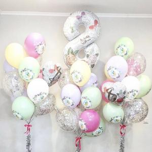 Оформление шарами 8 марта № 58