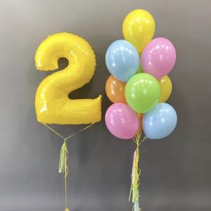"""Композиция из шаров № 295 """"День рождения"""""""