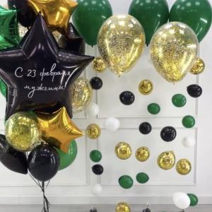 Оформление шарами праздника № 10 «23 февраля»