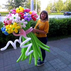 """Цветы из шаров №  2 """"Большое чувство"""""""