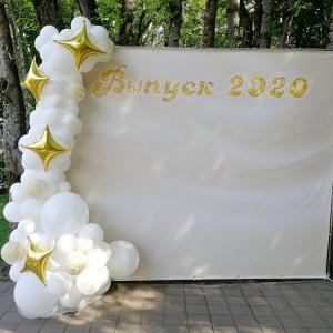 Оформление шарами выпускного в школе № 29