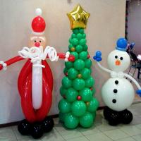 """Фигура из шаров """"Новогодний комплект № 5"""""""