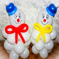 "Фигура из шаров ""Снеговики № 1"""