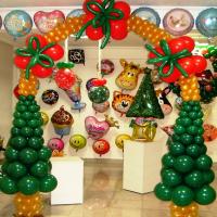Новогодняя арка из шаров № 02
