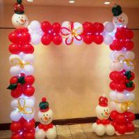 Новогодняя арка из шаров № 01