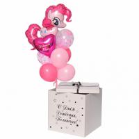 Коробка-сюрприз с шарами №32